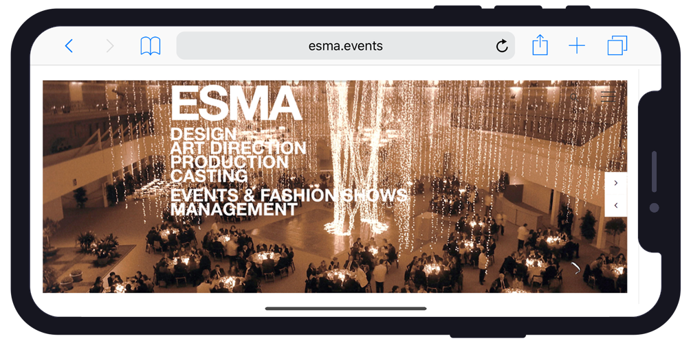 Esma.events Iphone x example