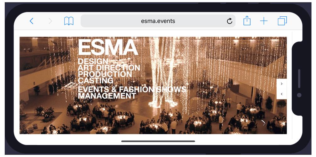 Esma.events Iphone x example