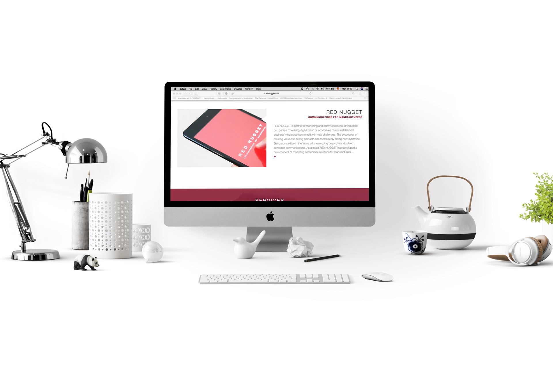 Red nugget Website Mockup