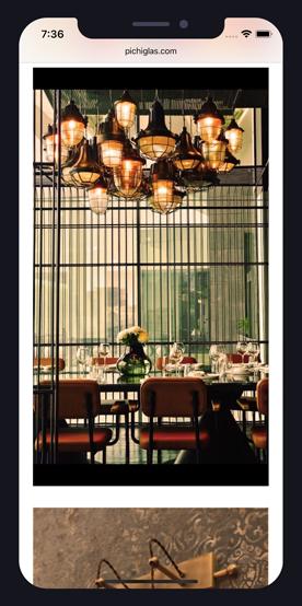 Pichiglas Lamps on IPhone X